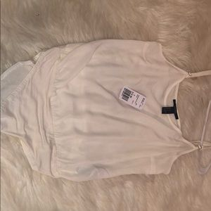 forever 21 white body suit